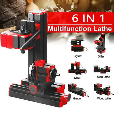 Multifunctonal Machine 6in1 Motorized Woodworking Driller Metal Wood Lathes Tool