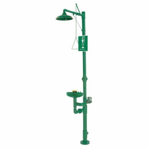 NEW Haws 8336 Shower W/ Eye Wash Station, ABS Plastic, Unassembled, 4HRX6, NEW