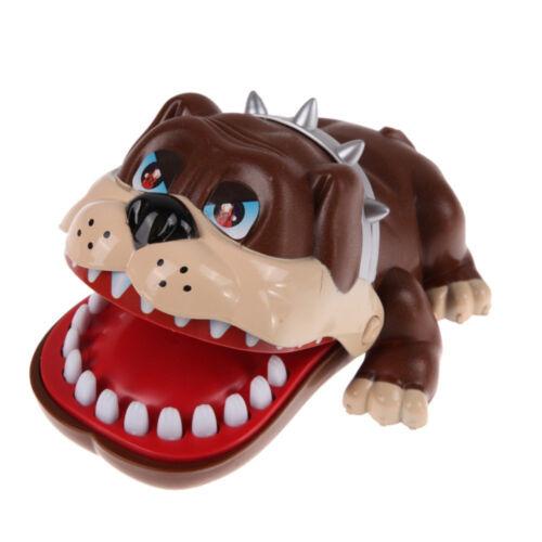 luck dog bulldog dentist bite finger funny
