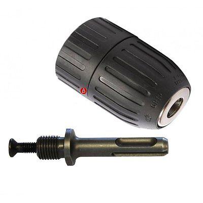 """Keyless SDS Plus Drill Adapter & Chuck 2 TO 13mm 1/2"""" Hilka 38361302 NEW"""