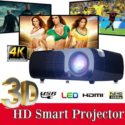 7000 Lumen Full HD 1080P Smart 3D LCD VGA HDMI TV Home Theater Projector Cinema