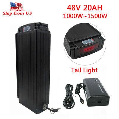 48V 20Ah 1000W~1500W LED Rear Rack E-bike Li-ion Battery for Electric Bicycle