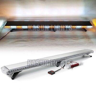 72 Inch Led Emergency Beacon Light Bar Tow Truck Roof Warning Strobe Amberwhite