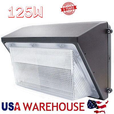 LED 125Watt Wall Pack Light Fixture 600-1000W HPS/HID Replacement 12500 Lumens