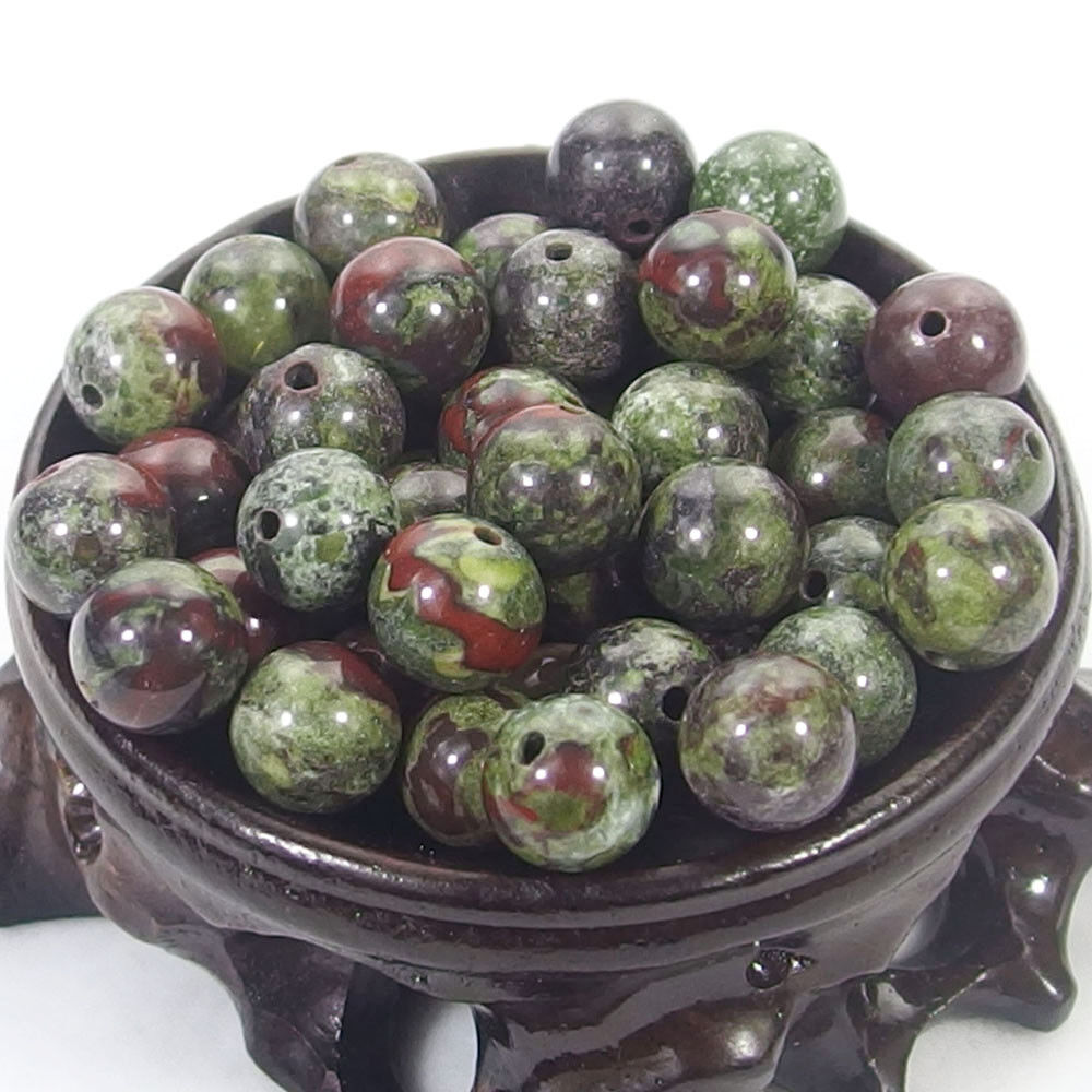 Bulk Gemstones I natural spacer stone beads 4mm 6mm 8mm 10mm 12mm jewelry design dragon blood jasper