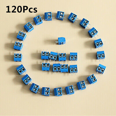 120x 2 Way 2p Pcb Mount Screw Terminal Block Connector 5.08mm Pitch Us Shipping