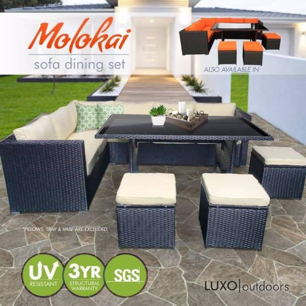Luxo Molokai 2 In 1 Wicker Outdoor Sofa Dining Set   Black | Sofas |  Gumtree Australia Blacktown Area   Seven Hills | 1158477921 Part 51
