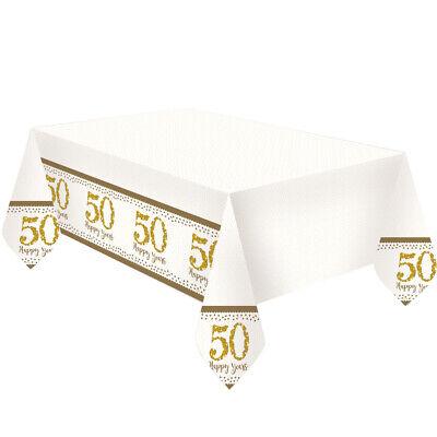 Dorado Aniversario Manteles 50th Boda Mantel