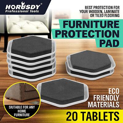 20pcs Furniture Slider Pads Movers Floor Protector Carpet Tile Wood Magic Carpet