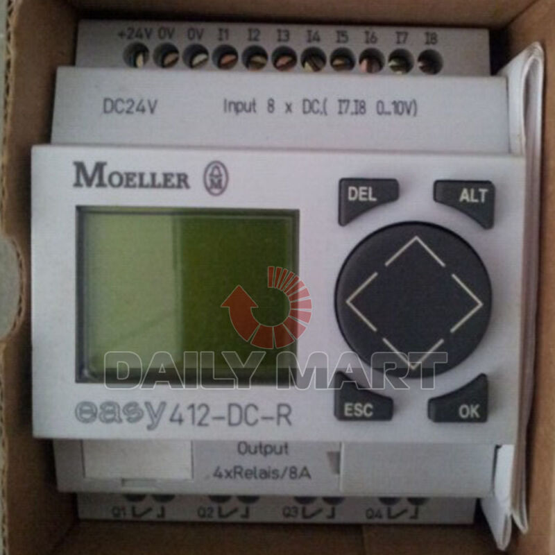 MOELLER EASY412-DC-R DIGITAL CONTROL RELAY PROGRAMMABLE PLC 12I/O 24VDC NEW