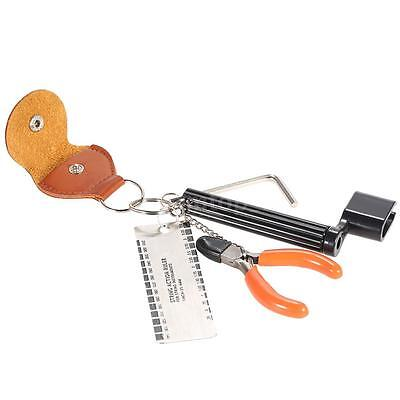 5-in-1 Guitar Accessories Kit Tool Set Setup String Winder Ruler Cutter U4C2