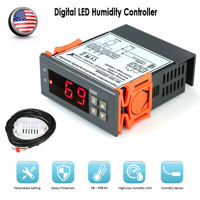 12v 10a Mini Digital Air Humidity Control Controller Measuring With Sensor J1r3