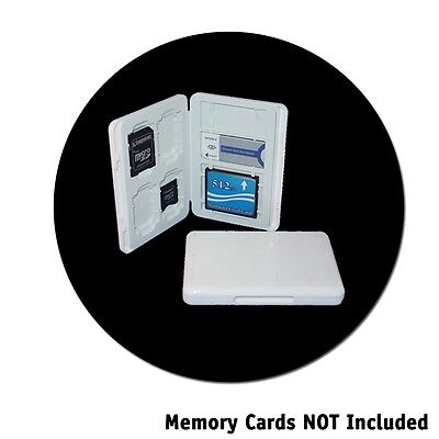 Universal Memory Card Case (White Universal Memory Card Case Hold 4 SD 1 CF & 2)