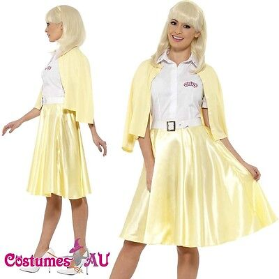 Ladies Grease Good Sandy Costume Licensed 1950s 50s Yellow Party Fancy Dress](Grease Party Clothes)