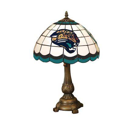 - Jacksonville Jaguars Art Glass Tiffany Table Lamp
