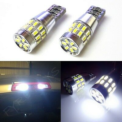 2x xenon white 30-LED 3014 truck cargo/bed area third brake light bulbs #R5