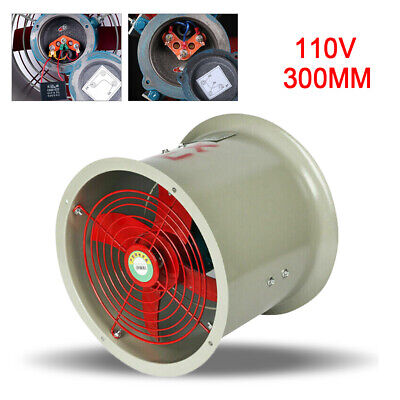 12 2280mh Ex Axial Fan Exhaust Flow Fan Cylinder Pipe Fan 1450rpm 180w 62db