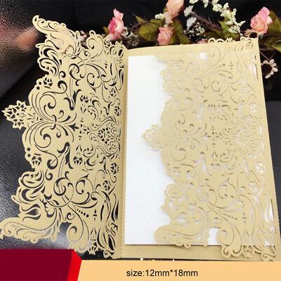 50PCS golden Bulk Wedding Invitations Birthday Party Invitation Cards Laser Cut](Golden Birthday Invitations)