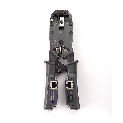 Network Lan Cable Crimper Stripper Cutter Pliers Tester Rj45 Rj11 Rj9 6P Dec 8P