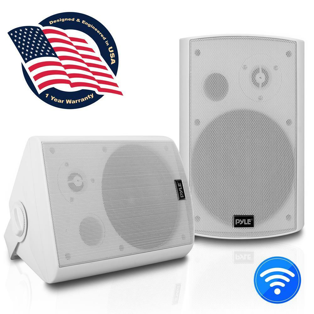 Pyle PDWR61BTWT Wall Mount Bluetooth 6.5'' Indoor/Outdoor Sp