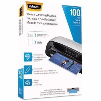 Pack Of 100 Fellowes Laminating Pouches Letter 3 Mil 11 12 X 9 Clear