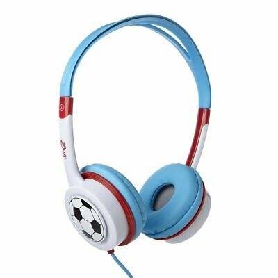iFrogz Little Rockers Costume On-Ear Wired Headphones Safe for Kids, Red Blue