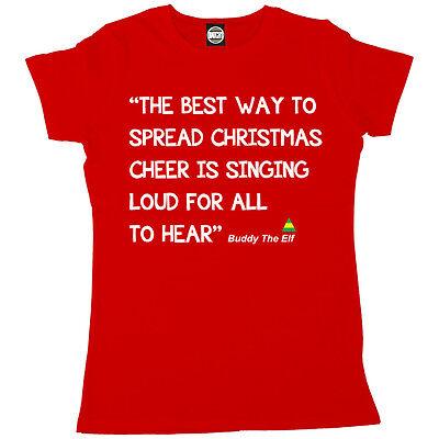 Inoffiziell Buddy The Elf Propagation Weihnachten Cheerleader Damen Lustige