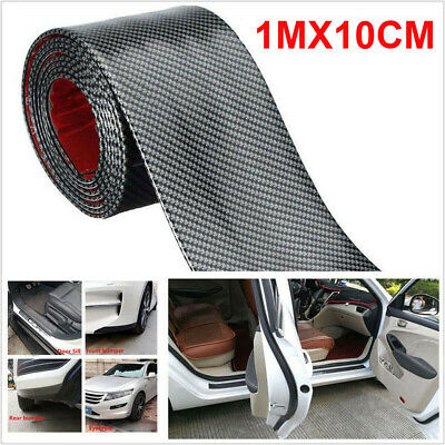 Car Sticker Carbon Fiber Rubber DIY Door Sill Protector Edge Guard Strip 10CM*1M for sale  Shipping to Canada