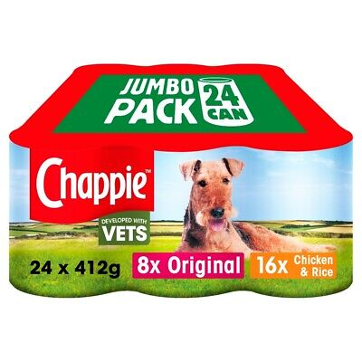 Chappie Favourites Wet Dog Food Cans - 24 x 400G