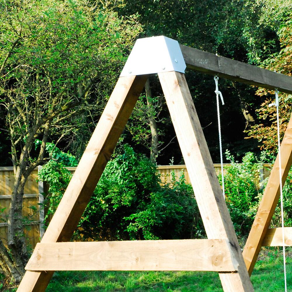 Diy Garden Swing Set Brackets Wooden Frame Outdoor Kids