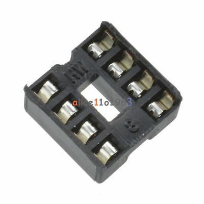 100pcs 8pin Dip Ic Socket Adaptor Solder Type Socket Pitch Dual Wipe Contact