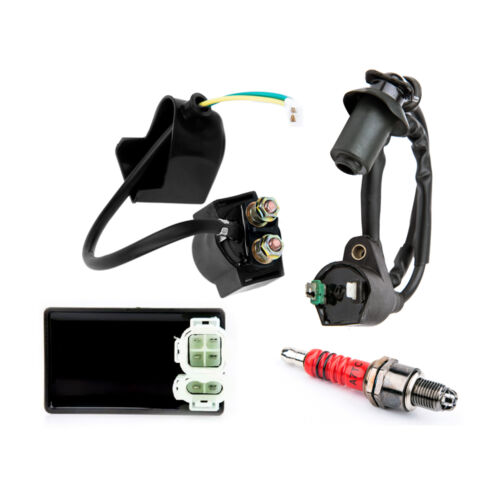 New Set Spark Plug Cdi Ignition Coil Solenoid For Yerf Spidebox Go Kart GX150 YR