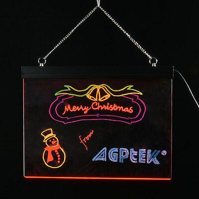 Flashing Fluorescent Illuminated Erasable LED Message Writing Board with Pens
