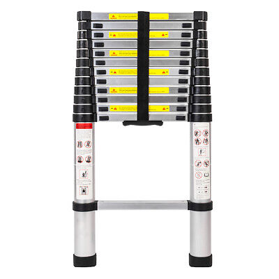 En131 12.5ft Telescopic Extension Aluminum Step Ladder Folding Multi Purpose