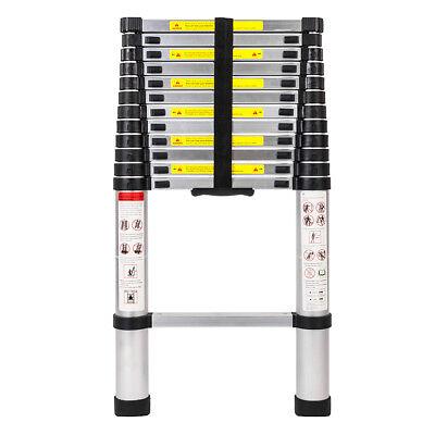 EN131 12.5FT Telescopic Extension Aluminum Step Ladder Folding Multi Purpose