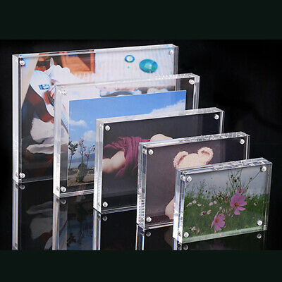 - 2018 Photo Frames Acrylic Double Sided Magnetic Picture Frame Desktop Display A