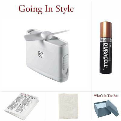 Travel Fan W  Aaa Battery And Handy Travel Bag Micro Fan Set   Going In Style