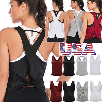 USA New Fashion Women's Active Wear Sports Running Fitness V