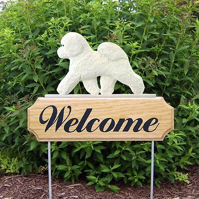 Bichon Frise Welcome Sign Outdoor Wood Sign ()