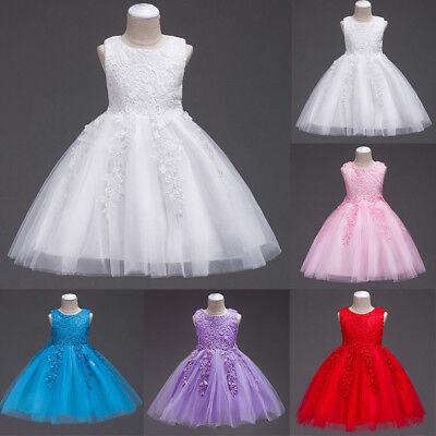 Brautjungfer Hochzeitskleid Kleid Spitze Tüll Tutu für Kinder Blumenmädchen ()