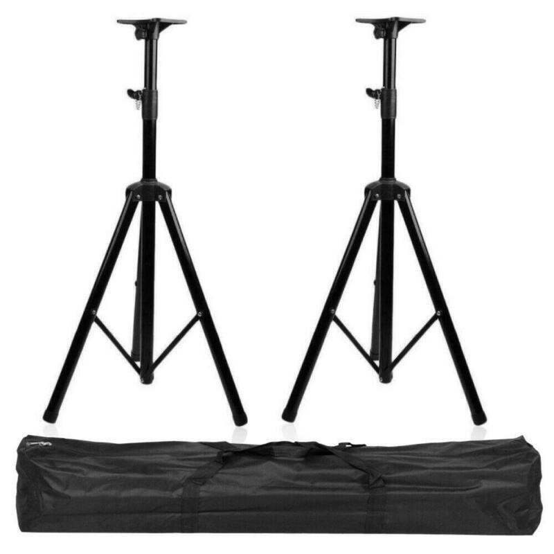 2X Pro Audio DJ Universal Pa Speaker Stand Adjustable Tripod Pole Mount + Bag