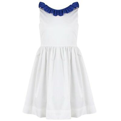 IL GUFO KIDS GIRLS RUFFLE TRIMMED COTTON DRESS 5 YEARS