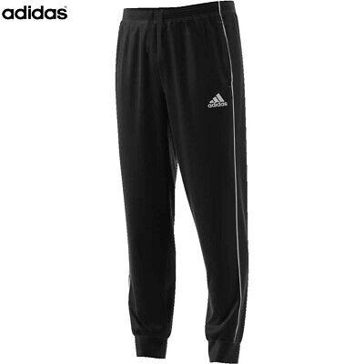 Adidas Core 18 Mens Tracksuit Bottoms Fleece Joggers Cotton Training Pant Black