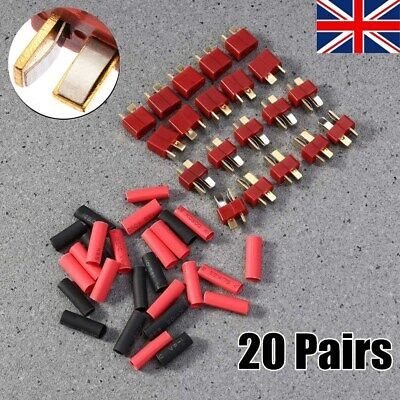 20 Pairs Deans Style T Plug Male & Female Connectors RC Lipo Battery Hobby Set