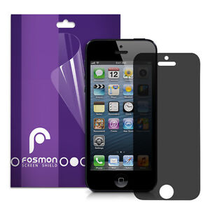 Fosmon 3 Pack Anti-Spy Privacy Screen Protector Guard Shield for Apple iPhone 5