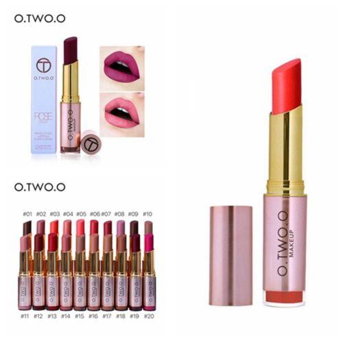 20 Farben Wasserfest Langanhaltend Lippenstift Matt Glanz Schönheit Make-up DE