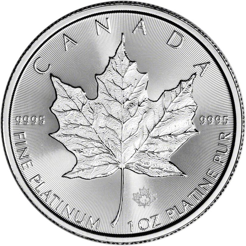 Canada Platinum Maple Leaf - 1 oz - $50 - BU - .9995 Fine - Random Date