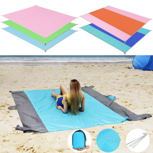 Sand Proof Beach Blanket Waterproof Sandless Beach Mat Campi