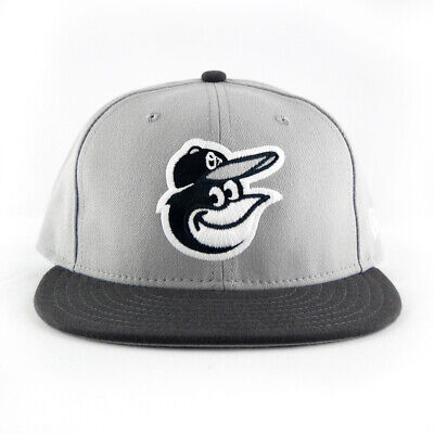 NEW ERA BALTIMORE ORIOLES MLB 2T CUSTOM GRAY BW 59FIFTY FITTED CAP HAT ~ 7