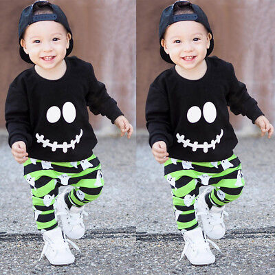 Halloween Outfits Babys (Halloween Kid Baby Boys Clothes Outfits Cotton Pullover Tops Tracksuit+Pants Set)